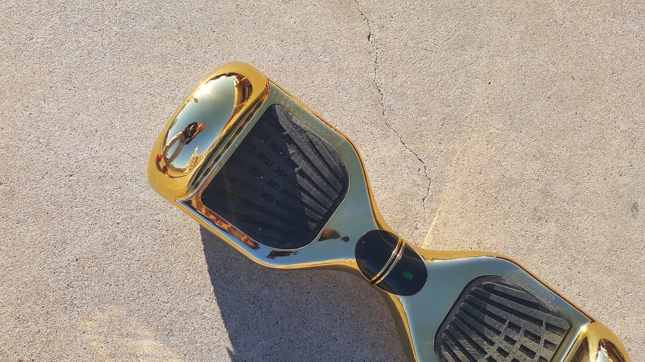 Goldenes Hoverboard