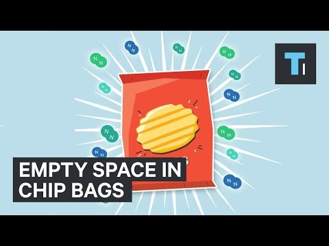 Why potato chip bags are always empty at the top