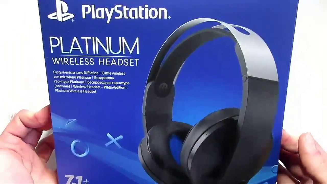 New Ps4 Platinum Wireless Headset Unboxing Youtube