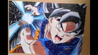 Speed drawing - Goku Migatte No Gokui - Ultra Instinct - KAMEHAMEHAAAAA!!!!!
