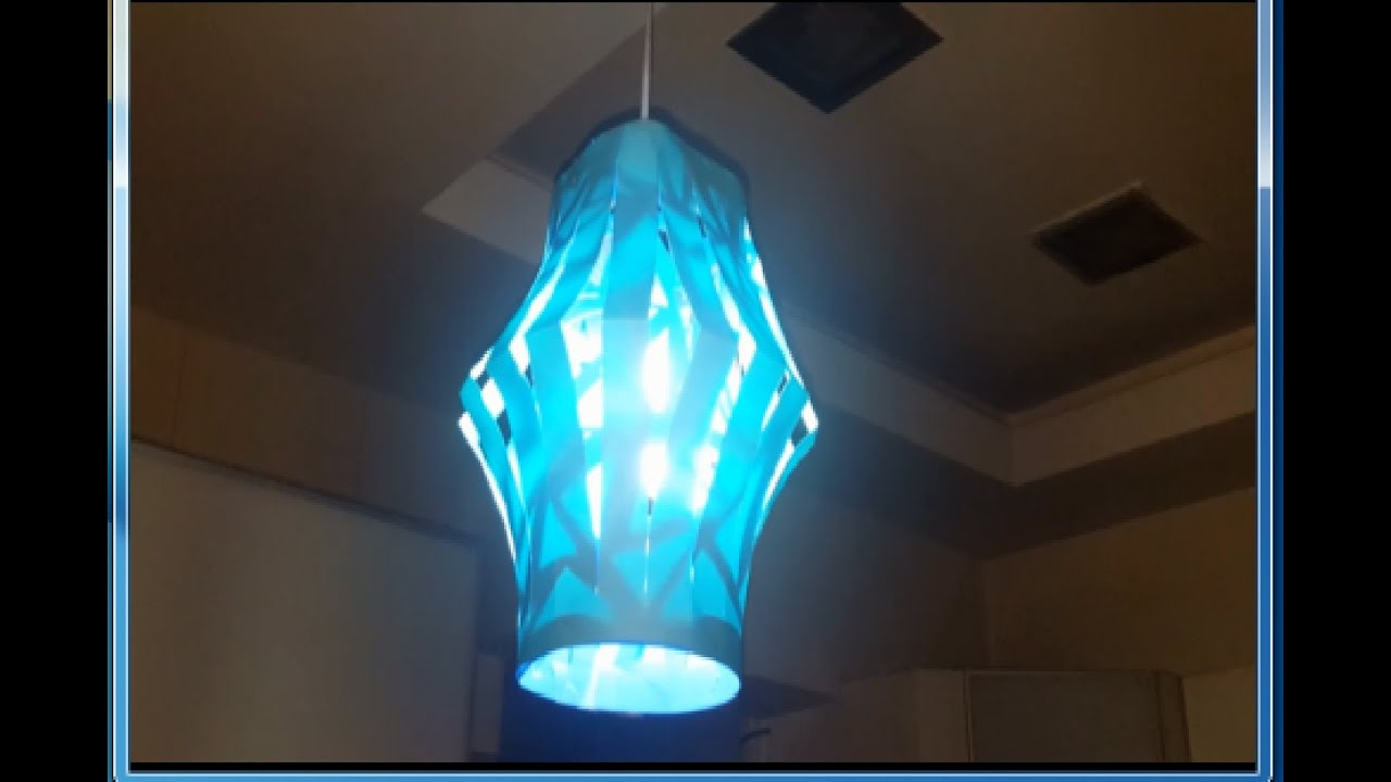 How To Make A Beautiful Hanging Lamp From Paper Youtube