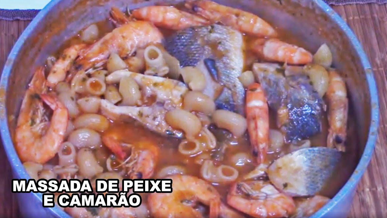 Massada De Peixe E Camarao Cozinha Do Miguel Prawn And Sea Bass Pasta Typical Portuguese Dish Youtube