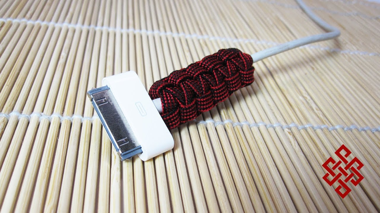 Paracord Life Hack Protect your iPhone / iPod Cables with Paracord ...