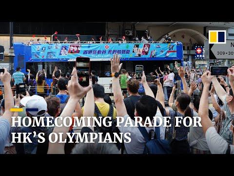 Hong Kong Olympic athletes welcomed back in homecoming parade