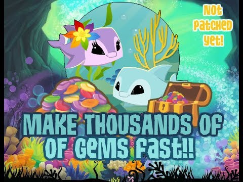 How To Make TONS Of Gems FAST With Underwater Plushies! // Animal Jam 2017