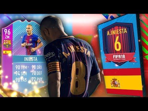 KOSTENLOSES 125k Pack + End Of Era INIESTA (96) SBC Abgeschlossen - FIFA 18
