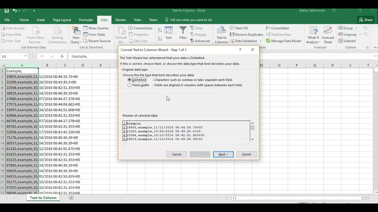 how to move columns in excel 2016