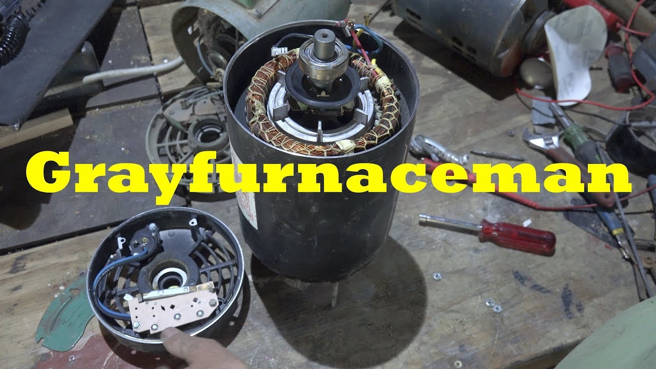 Repair of the start switch on the centrifugal motor. on