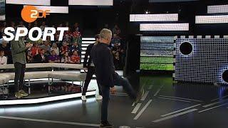 Torwandschießen: Streich gegen Antoski | das aktuelle Sportstudio - ZDF