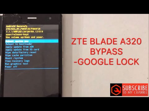 ZTE BLADE A320 frp bypass google account - YouTube