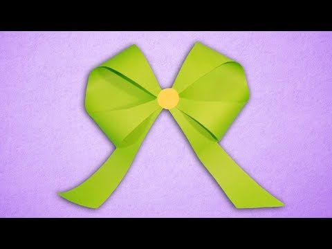 How To Make a Paper Bow Ribbon   DIY Easy Origami Paper Crafts