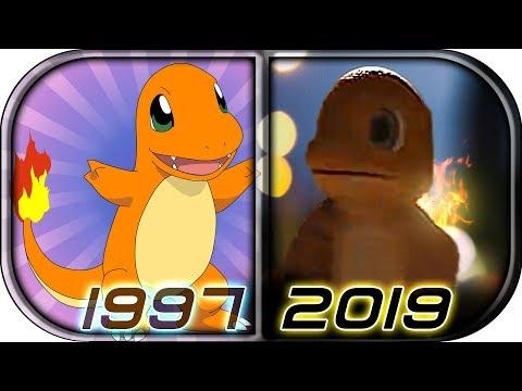 EVOLUTION of 🔥CHARMANDER🔥 in Movies Cartoons Anime TV 1997-2019 Pokémon: Detective Pikachu scene