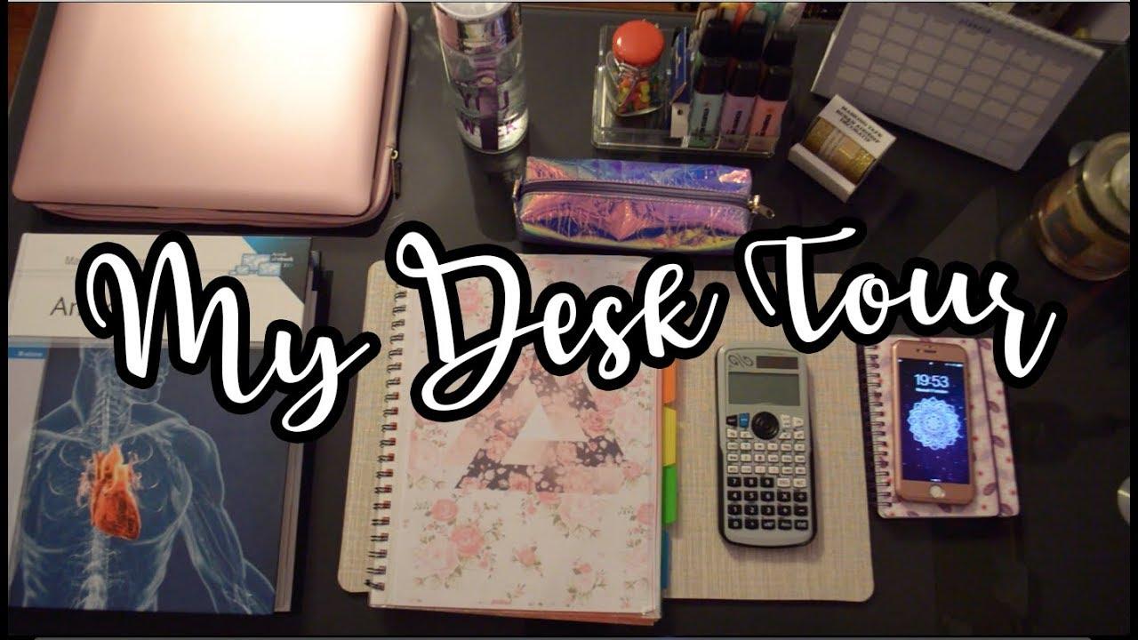 Come Organizzare La Propria Scrivania come organizzo la mia scrivania!👩🏼💻 desk tour  sl
