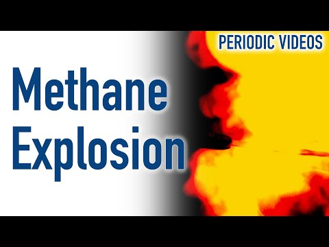 Methane Explosion (SLOW MOTION) - Periodic Table of Videos