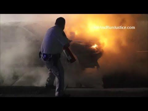 10 16 2017 Car Fire South I 215 at Barton Rd Colton, CA