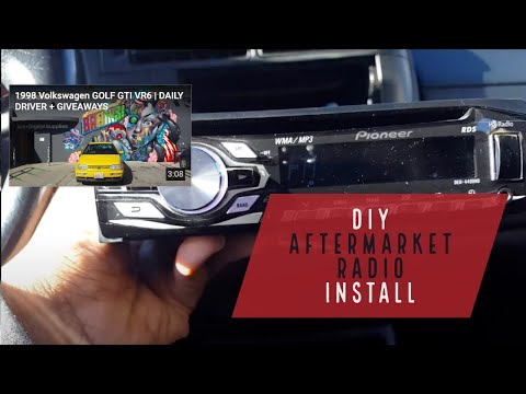[SCHEMATICS_48IS]  DIY Aftermarket Radio INSTALL VW MK3 Golf GTI JETTA CABRIO | SMOKEDRUBBER -  YouTube | 2000 Vw Cabrio Radio Wiring |  | YouTube