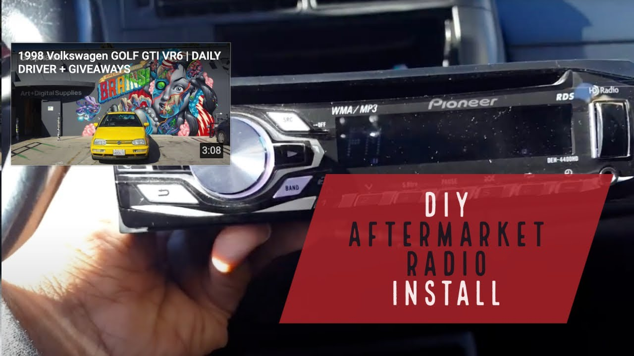 hight resolution of diy aftermarket radio install vw mk3 golf gti jetta cabrio smokedrubber