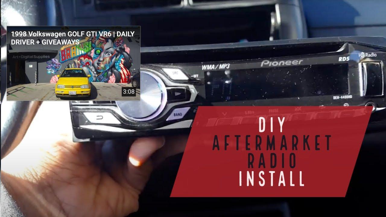 diy aftermarket radio install vw mk3 golf gti jetta cabrio smokedrubber [ 1280 x 720 Pixel ]