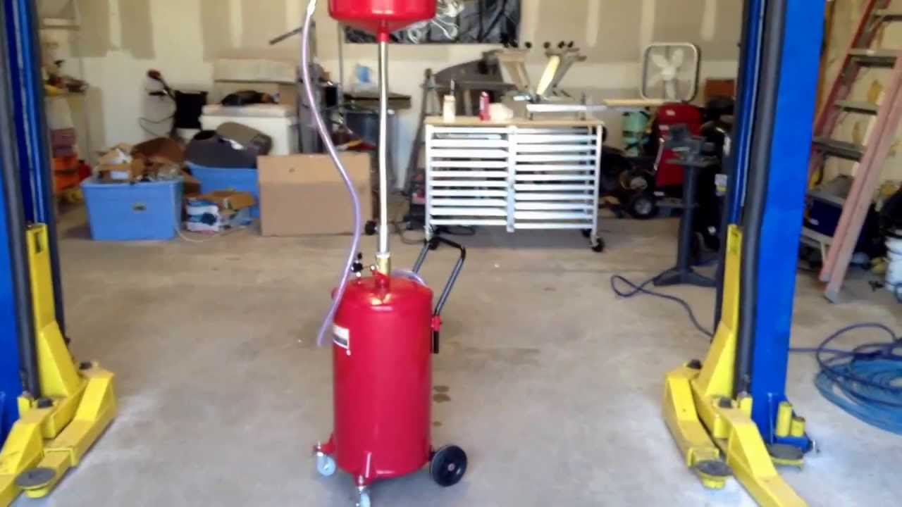 Harbor Freight 20 Gallon Portable Oil Lift Drain Air