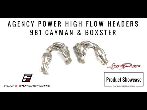 Agency Power High Flow Headers - 981 Cayman & Boxster (Product Showcase)