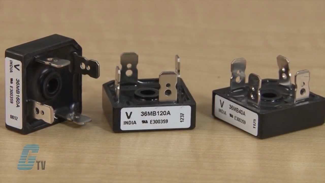 Vishay Mb Series Single Phase Bridge Rectifier Overview Youtube Solid State Relay