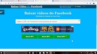 BAIXAR VIDEO E LIVE DO FACEBOOK PARA SEU PC OU CELULAR. MELHOR MANEIRA DE BAIXAR VIDEO FACEBOOK