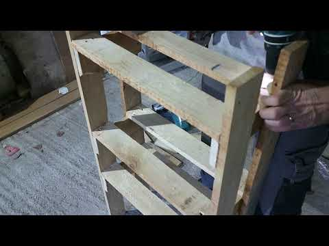 How To Make a Shoes Rack With Only Some Plain Wood (planks)