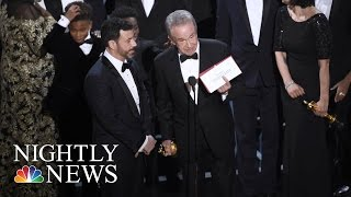 stunning oscars mistake seen round the world this is how it happened   nbc nightly news