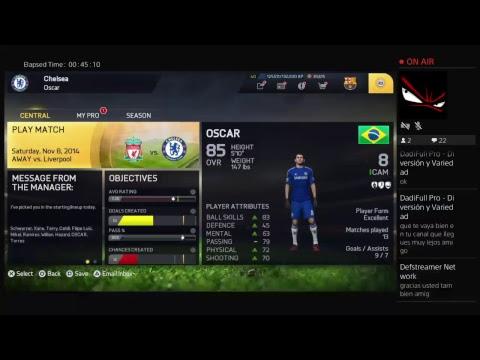 Chelsea Vs QPR PS4 Broadcast (Fifa 15)