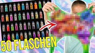 50 FLASCHEN GLITZER DEKO IN XXL SLIME MISCHEN 😍 OMG SO SCHÖN ANZUGUCKEN!!