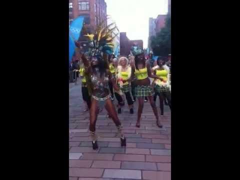 brazilian tartan dancers at Merchant City Glasgow