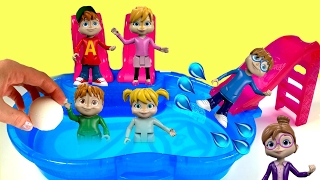 Alvin and the Chipmunks Dive in a Pool for Toy Surprises with a Bath Bomb!