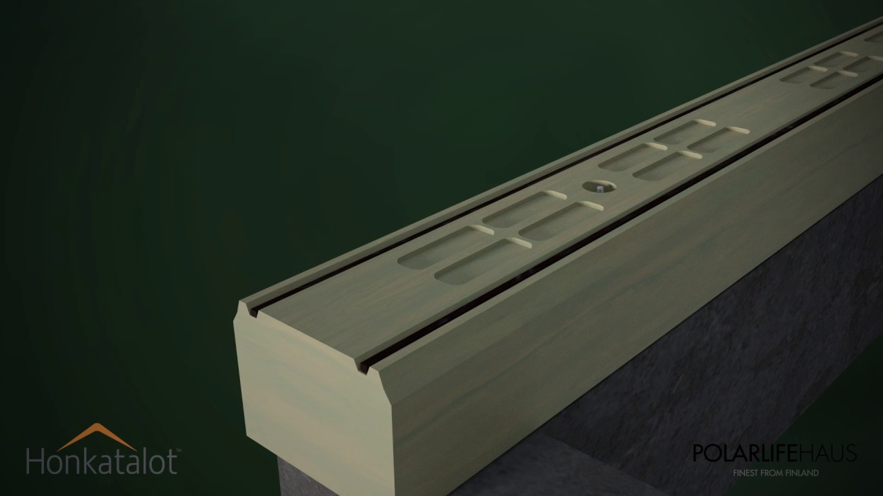 polar life haus non settling log construction patented. Black Bedroom Furniture Sets. Home Design Ideas