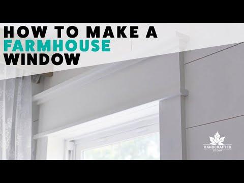 DIY Farmhouse Window Trim