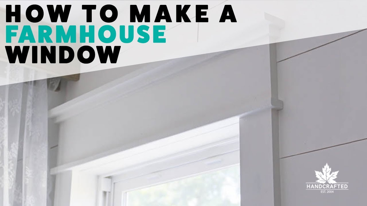 How To Make A Farmhouse Window Youtube