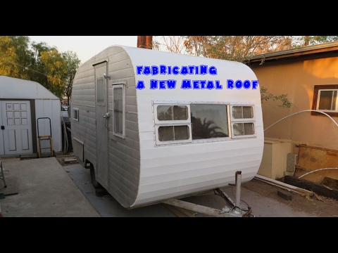 Fabricating A Metal Skin Trailer Roof Youtube