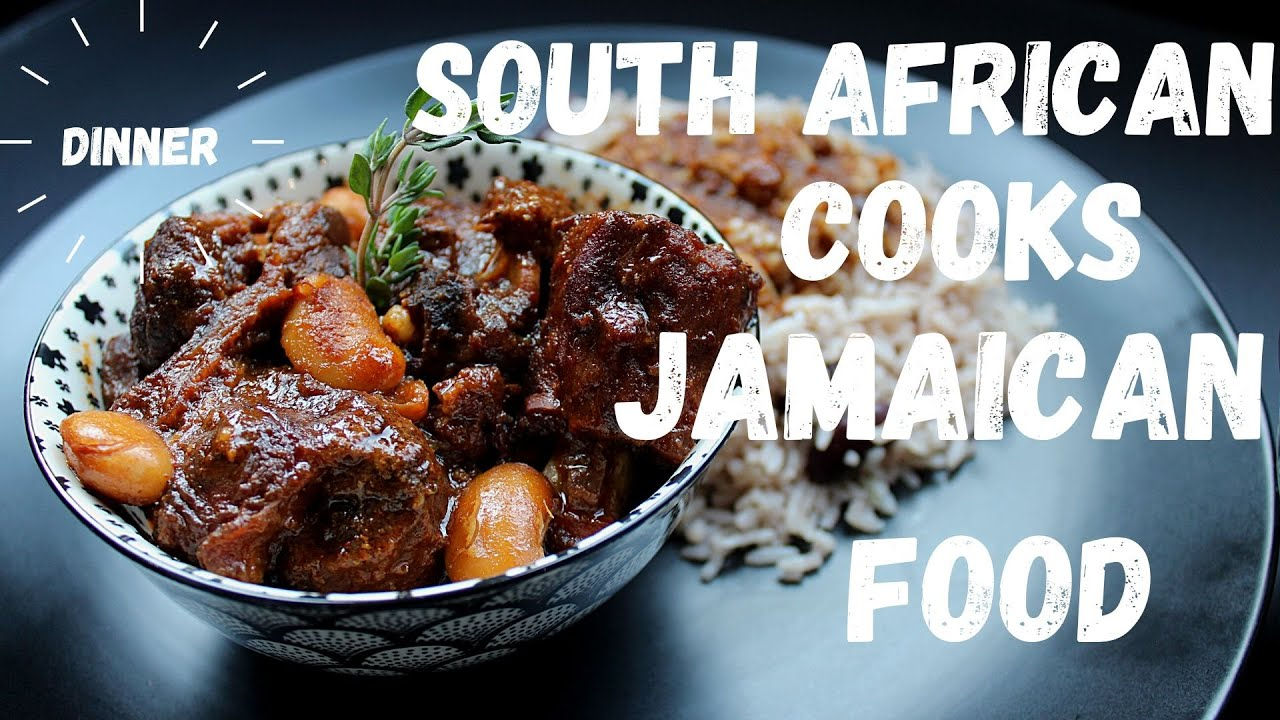 jamaican oxtail stew with rice and peas  youtube