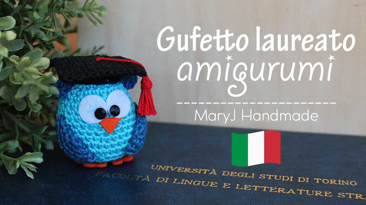 Famoso Gufetto laureato amigurumi - YouTube MT24