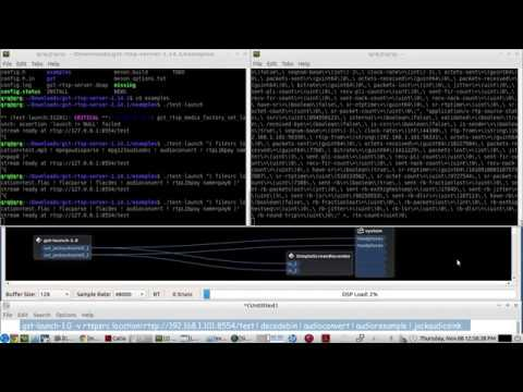 Gstreamer RTSP SERVER - LIVE demo of setup - to Stream & Receive a STEREO  FLAC audio file