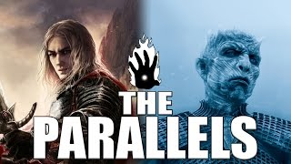 Game of thrones: azor ahai and nights king parallel