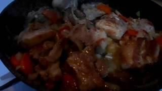 Свиные ребрышки на сковороде/рецепт свиных ребрышек