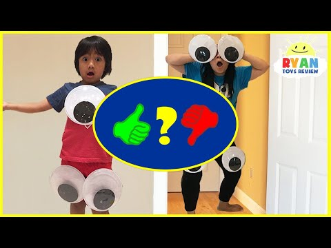 Kid Pranks Mommy and Daddy Giant Magical Googly Eyes with M&M McDonald's Happy Meal - Video Review