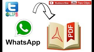 Download your whatsapp chat in .pdf format easy and fast 100% 2018