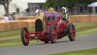 108 Year old FIAT S76 in Action - 28.4-litre 4-Cylinder Engine Spitting Flames!