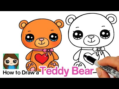 How To Draw A Teddy Bear For Valentines