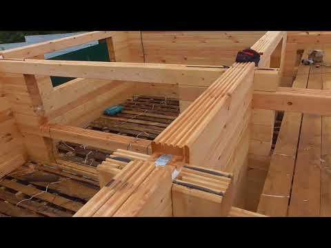 Собираем дом из профилированного бруса-конструктора от Лестэк