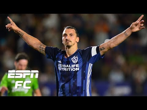 Zlatan Ibrahimovic scores two goals in LA Galaxy draw vs. Seattle Sounders | MLS Highlights