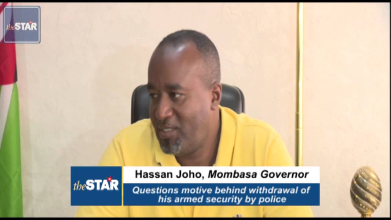 Joho questions motive behind withdrawn of security