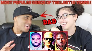 MY DAD REACTS TO Most Popular Rap Songs Of The Last 10 Years [2008 - 2018] REACTION