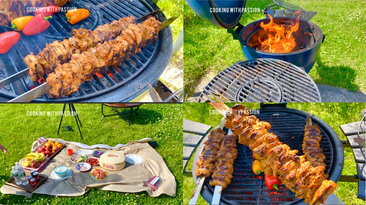 Turkish Chicken Kebab on Grill & Family Fun Vlog in New York (Summer) Cooking with passion 😍 BBQ